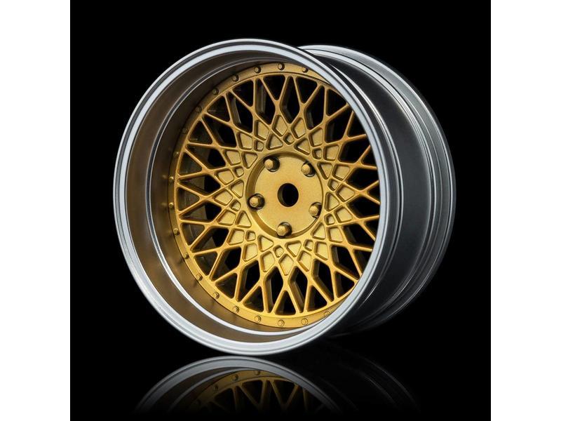 MST 501 Wheel Set - Adjustable Offset (4pcs) / Color: Gold - Flat Silver