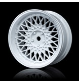 MST 501 Wheel Set - Adjustable Offset (4pcs) / Color: White - White