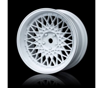 MST 501 Wheel Set - Adj. Offset (4) / White-White