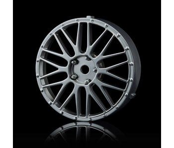 MST LM Wheel Disk (2) / Flat Silver - DISCONTINUED