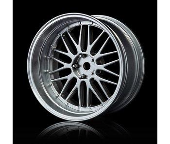 MST LM Wheel Set - Adj. Offset (4) / Flat Silver-Flat Silver