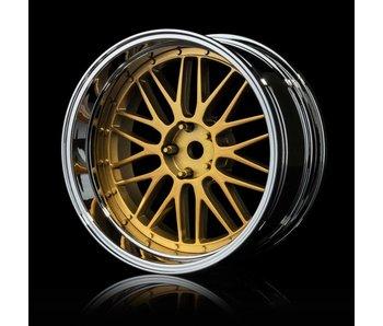 MST LM Wheel Set - Adj. Offset (4) / Gold-Silver