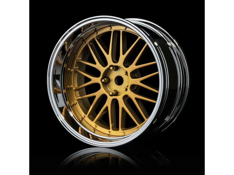 MST LM Wheel Set - Adjustable Offset (4pcs) / Color: Gold - Silver (Chrome)