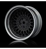 MST 501 Wheel Set - Adjustable Offset (4pcs) / Color: Flat Black - Flat Silver