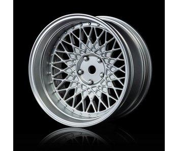 MST 501 Wheel Set - Adj. Offset (4) / Flat Silver-Flat Silver