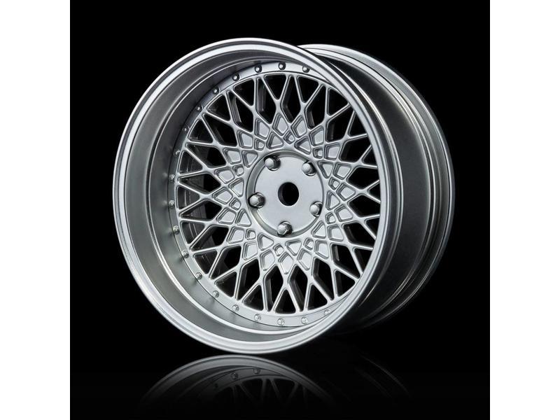 MST 501 Wheel Set - Adjustable Offset (4pcs) / Color: Flat Silver - Flat Silver