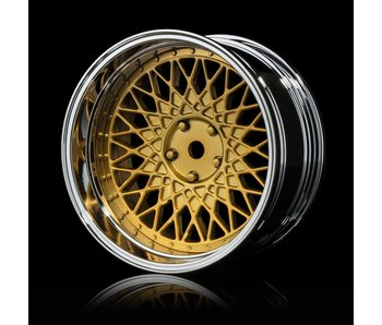 MST 501 Wheel Set - Adj. Offset (4) / Gold-Silver