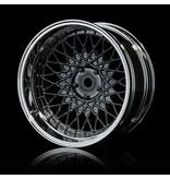 MST 501 Wheel Set - Adjustable Offset (4pcs) / Color: Silver Black (Dark Chrome) - Silver (Chrome)