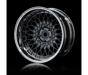 MST 501 Wheel Set - Adj. Offset (4) / Silver Black-Silver