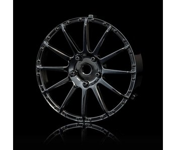 MST 21 Wheel Disk (2) / Silver Black - DISCONTINUED