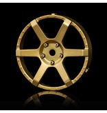 MST 106 Wheel Disk (2pcs) / Color: Gold - DISCONTINUED