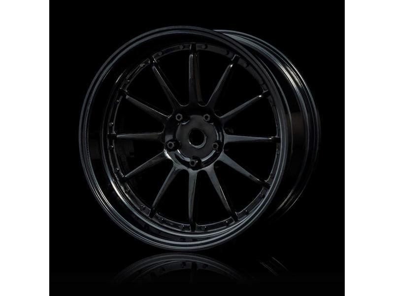 MST 21 Wheel Set - Adjustable Offset (4pcs) / Color: Black - Black