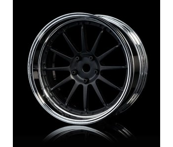 MST 21 Wheel Set - Adj. Offset (4) / Flat Black-Silver