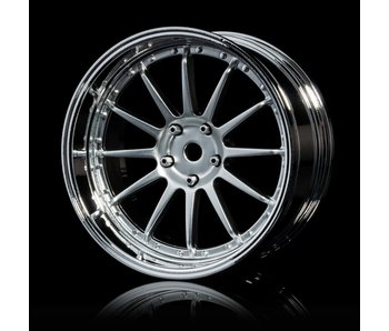 MST 21 Wheel Set - Adj. Offset (4) / Flat Silver-Silver