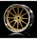 MST 21 Wheel Set - Adjustable Offset (4pcs) / Color: Gold - Silver (Chrome)