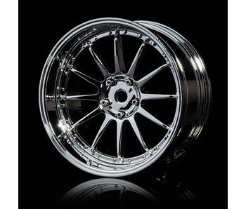 MST 21 Wheel Set - Adj. Offset (4) / Silver-Silver - DISCONTINUED