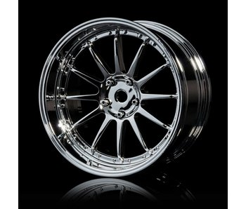 MST 21 Wheel Set - Adj. Offset (4) / Silver-Silver