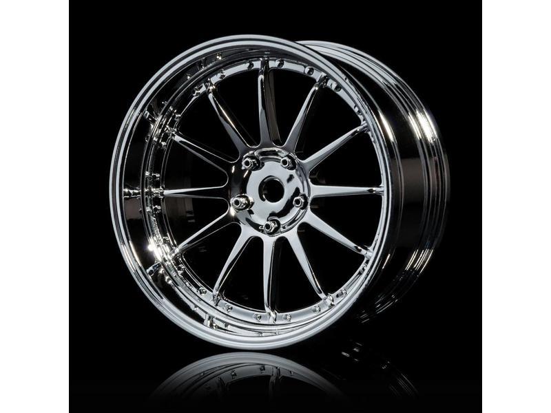 MST 21 Wheel Set - Adjustable Offset (4pcs) / Color: Silver (Chrome) - Silver (Chrome) - DISCONTINUED