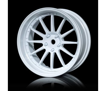 MST 21 Wheel Set - Adj. Offset (4) / White-White
