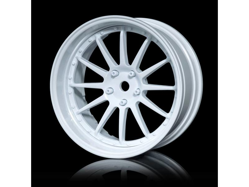MST 21 Wheel Set - Adjustable Offset (4pcs) / Color: White - White