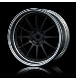 MST 21 Wheel Set - Adjustable Offset (4pcs) / Color: Flat Black - Flat Silver