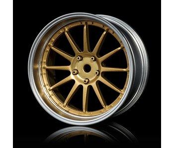 MST 21 Wheel Set - Adj. Offset (4) / Gold-Flat Silver