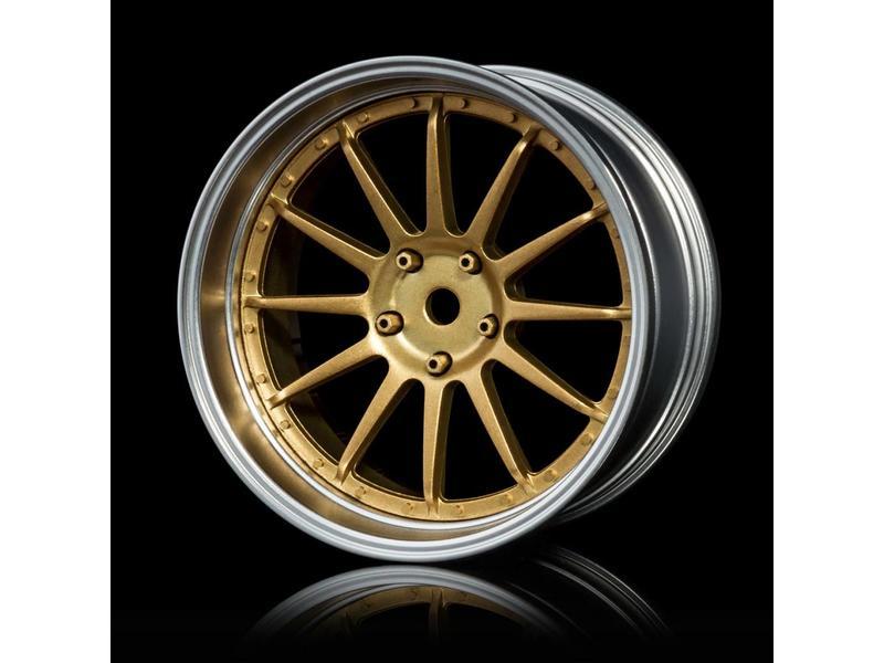 MST 21 Wheel Set - Adjustable Offset (4pcs) / Color: Gold - Flat Silver