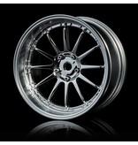 MST 21 Wheel Set - Adjustable Offset (4pcs) / Color: Silver (Chrome) - Flat Silver