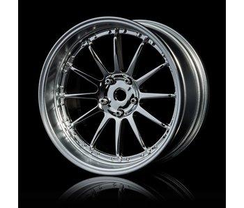 MST 21 Wheel Set - Adj. Offset (4) / Silver-Flat Silver