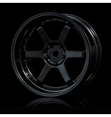 MST 106 Wheel Set - Adjustable Offset (4pcs) / Color: Black - Black