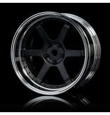 MST 106 Wheel Set - Adjustable Offset (4pcs) / Color: Flat Black - Silver (Chrome)