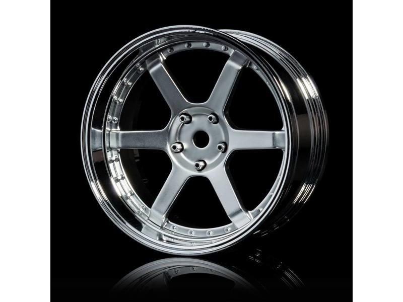 MST 106 Wheel Set - Adjustable Offset (4pcs) / Color: Flat Silver - Silver (Chrome) - DISCONTINUED