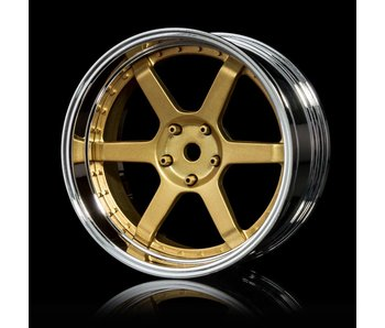 MST 106 Wheel Set - Adj. Offset (4) / Gold-Silver