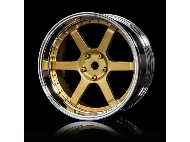 MST 106 Wheel Set - Adjustable Offset (4pcs) / Color: Gold - Silver (Chrome)