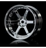 MST 106 Wheel Set - Adjustable Offset (4pcs) / Color: Silver (Chrome) - Silver (Chrome)