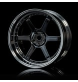 MST 106 Wheel Set - Adjustable Offset (4pcs) / Color: Silver Black (Dark Chrome) - Silver (Chrome)