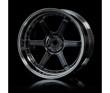 MST 106 Wheel Set - Adj. Offset (4) / Silver Black-Silver