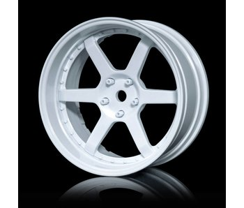 MST 106 Wheel Set - Adj. Offset (4) / White-White