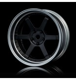 MST 106 Wheel Set - Adjustable Offset (4pcs) / Color: Flat Black - Flat Silver