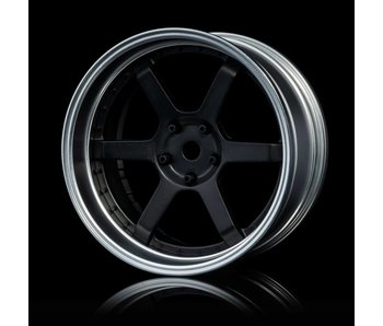MST 106 Wheel Set - Adj. Offset (4) / Flat Black-Flat Silver