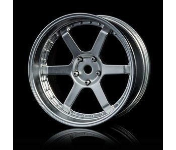 MST 106 Wheel Set - Adj. Offset (4) / Flat Silver-Flat Silver