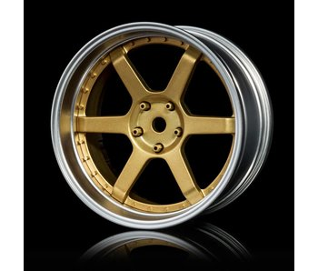 MST 106 Wheel Set - Adj. Offset (4) / Gold-Flat Silver