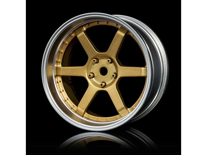 MST 106 Wheel Set - Adjustable Offset (4pcs) / Color: Gold - Flat Silver