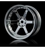 MST 106 Wheel Set - Adjustable Offset (4pcs) / Color: Silver (Chrome) - Flat Silver