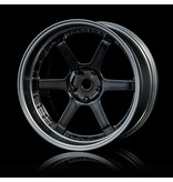MST 106 Wheel Set - Adjustable Offset (4pcs) / Color: Silver Black (Dark Chrome) - Flat Silver