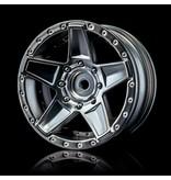 MST 648 Wheel (4pcs) / Color: Flat Silver