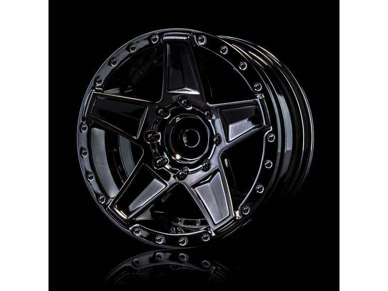MST 648 Wheel (4pcs) / Color: Silver Black (Dark Chrome)