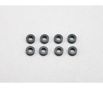 Yokomo Aluminium Shim φ3.0mm x φ6.0mm x 2.5mm - Black (8pcs)