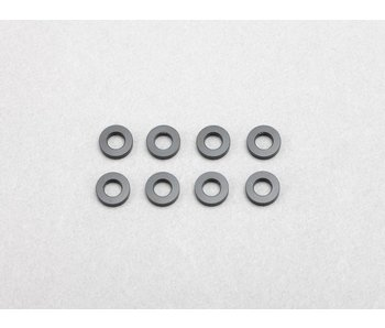 Yokomo Aluminium Shim φ3.0mm x φ6.0mm x 1.5mm - Black (8pcs)