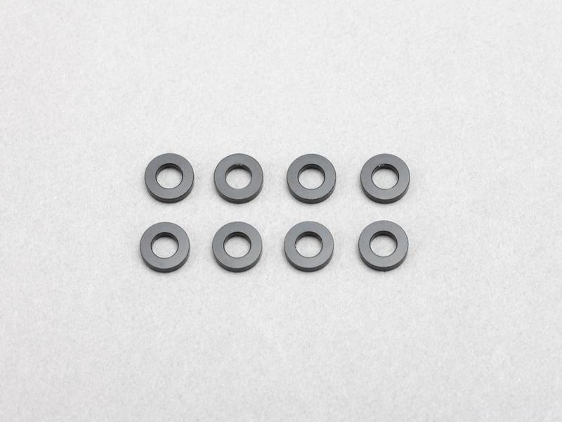 Yokomo ZC-A3615B - Aluminium Shim φ3.0mm x φ6.0mm x 1.5mm - Black (8pcs)